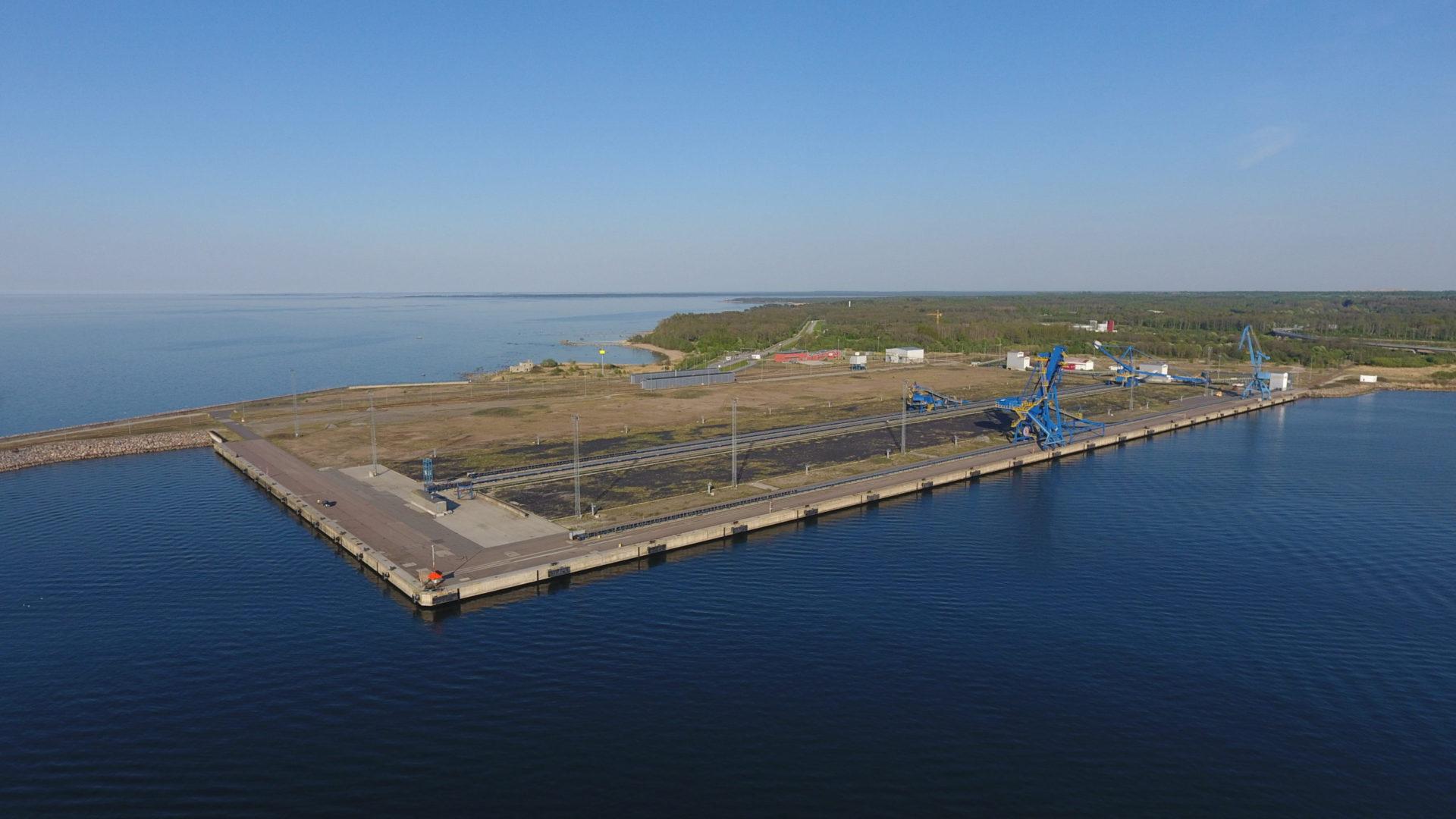 Piers 31-33 of port Muuga, Estonia