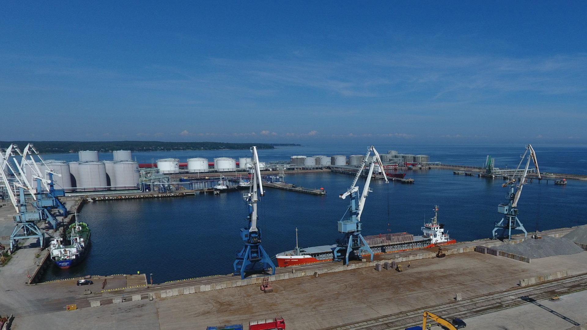 Piers 3-5 of port Muuga, Estonia