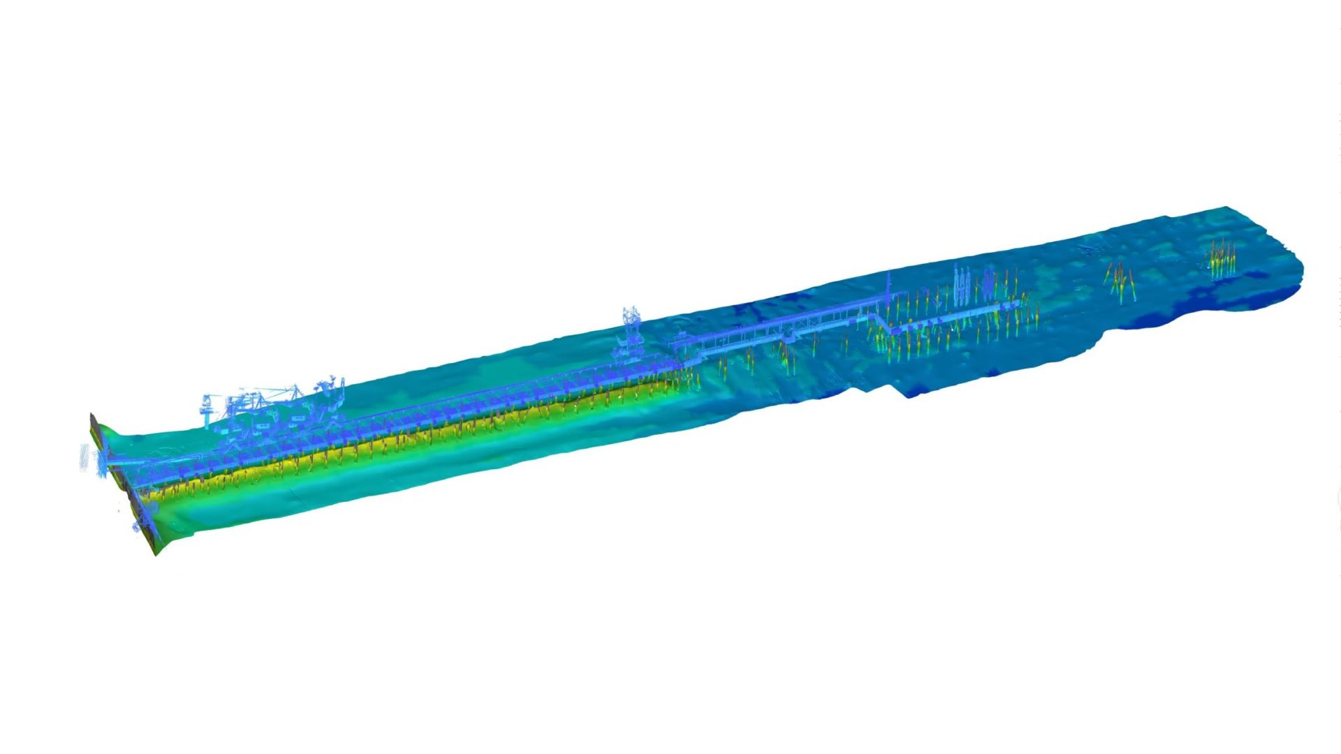 Combined MBES and LIDAR scan of piers 9,9A,10,10A of port Muuga