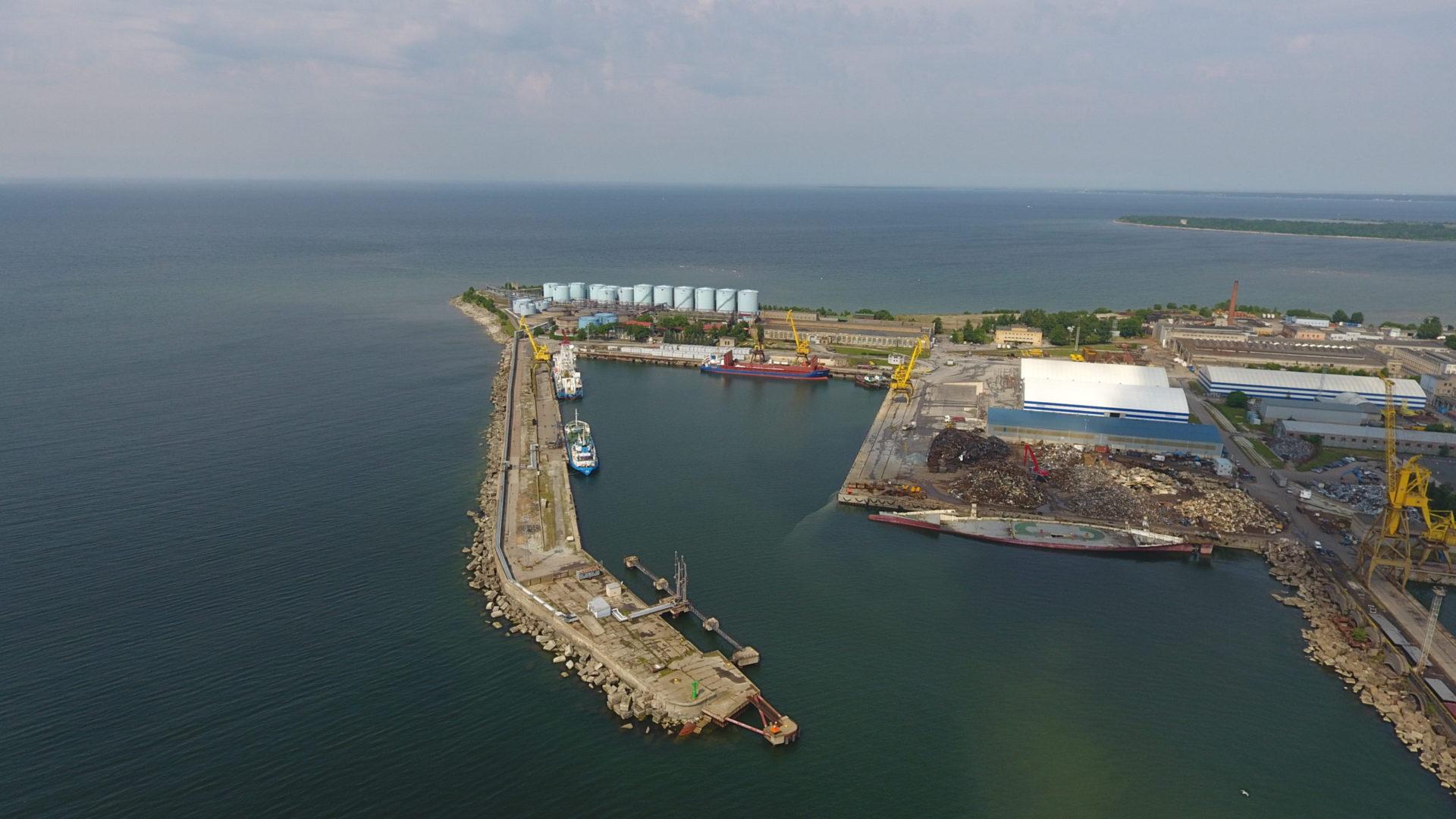 Piers 4-5 of the BLRT Shipyard, Tallinn, Estonia