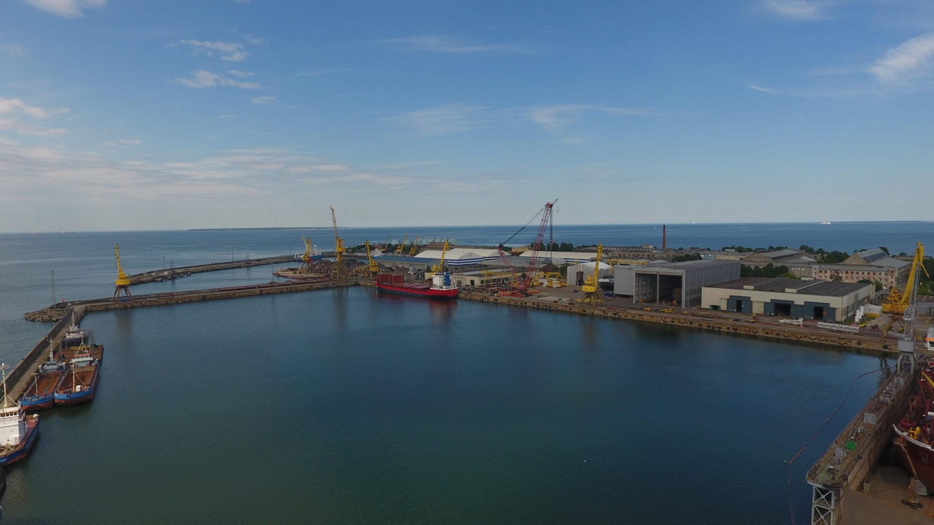 Piers 9-15 of the BLRT Shipyard, Tallinn, Estonia